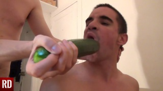 mean master fucks his sex slave with a cucumber