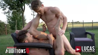 newcomer MARQ DANIELS bare fucks JAMES CASTLE
