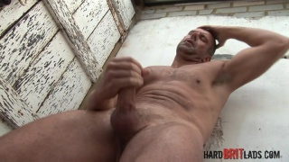 tall brit Jack Saxon jacks off
