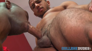 Cory Woods and Mike Maverick fuck in their dorm room