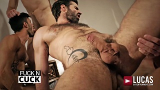 bareback orgy with ANDREY VIC, BOGDAN GROMOV, DANI ROBLES, ANDY STAR