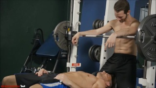 guys working out in the gym do dirty things