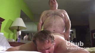 chub daddy gives his boy a hard fuck