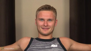 german-czech guy jerks his dick on camera