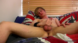 blond lad brent is new to gay porn