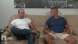 Straight guys Dustin Steele and Jace Chambers play around