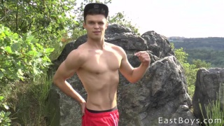 Muscle Flexing and Workout with Petr Brada