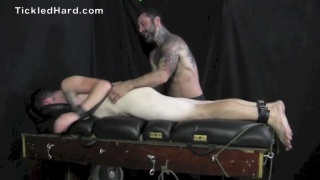 Donny Blough strapped down and tickled