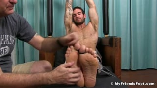 Chase Lachance tied up and tickled
