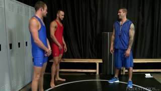 The Sexy Older Wrestling Coach with Javier Cruz, Caleb Troy & Derek Reed