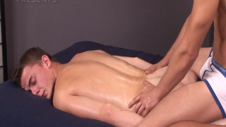 Zdenek Tlucek gets a massage and much more