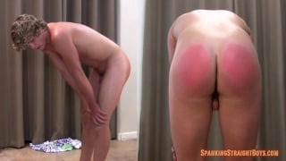 Jeremy Bent Over for his spanking