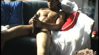 brotha plays with his 11-inch dick