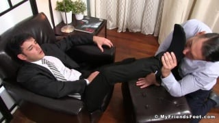 businessman Rego Dominates Alex With His Feet