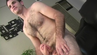 Hairy Marine gets a handjob