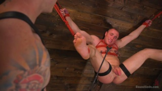 master Christian Wilde trains Jacob Durham in his dungeon