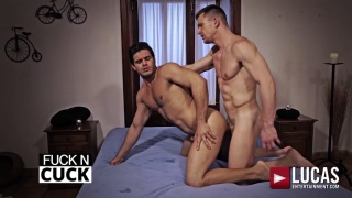 hot muscular top andrey vic fucks two bottoms