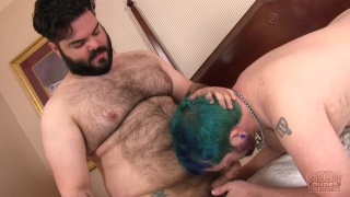 cub with green hair gets his ass fucked hard
