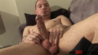 chav lee adams jerks his thick and meaty cock