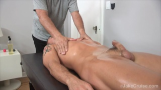 Wolfie Blue gets a Massage and blowjob