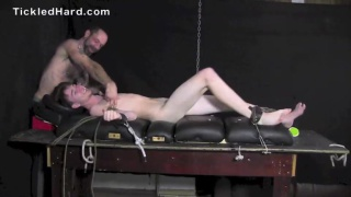 straight guy Joel strapped down and tickled