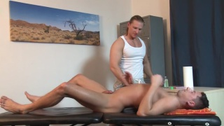 long-haired Trent Tarzan rides Nick Gill's cock