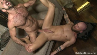 Felipe Ferro spreads Jay Moore's legs and rams in his cock