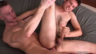 Brandon Evans fucks Chris Taylor and cums all over him