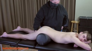 18-year-old straight boy gets his dick serviced