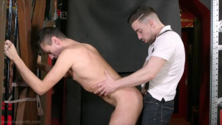 Piggy twink sub spanked, pissed on and fucked apart by Josh Milk