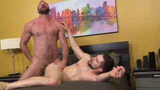 bearded muscle daddy fucks a hot piece of ass
