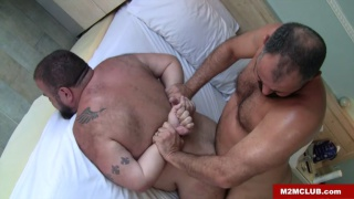 spanish bears Rodrigo Toro and Marko Bulto fuck in bed