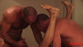 Spit-Roasting A Top Turned Bottom with rocco banks, carlo cox and trojan rock