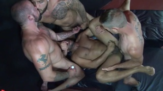 Leo Forte Gang Fucked with Mario Cruz, Brett Bradley & Sean Duran