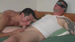 beefy marine Christian gets a blowjob