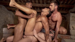 ROUGH DOUBLE PENETRATION with ZANDER CRAZE, JACEN ZHU, WOLF RAYET & IBRAHIM MORENO
