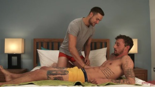 Straight Hunk Barclay gets his First handjob