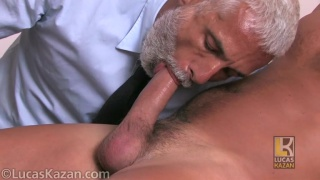 silver daddy plays with newcomer