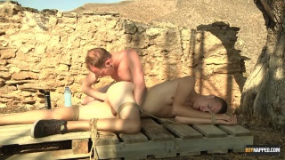 bound lad Jack Ashley gets his ass fingered