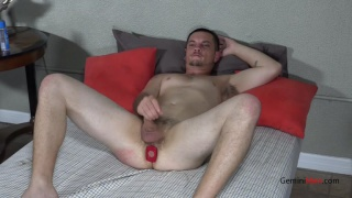 Sean Alton plays with his First sex Toy