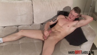 straight lad Liam Lawrence works his dick