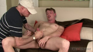straight guy Andrew gets his ass fingered during blowjob