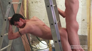 french twinks William Lefort and Paul Delay fuck on the job