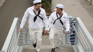 sailors Rafael Alencar and Griffin Barrows fuck