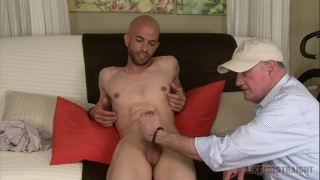 bald guy Jacob gets his cock serviced