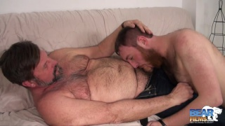 older daddy and his hairy cub