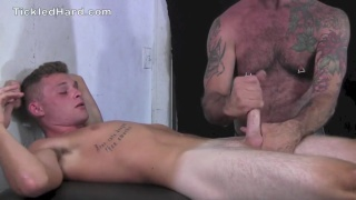 Ryan Tripp strapped down tickled and stroked