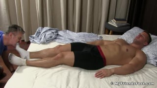 sleeping Brad's Size 11 Feet Worshiped