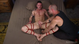 Jason Styles in rope bondage Edging