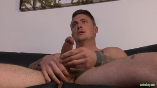 Dane Stewart strokes his dick